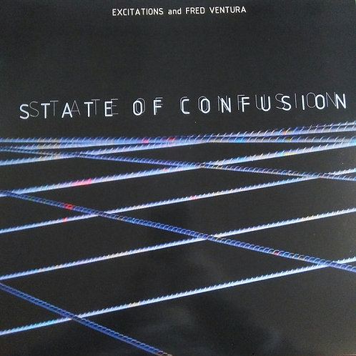 "Excitations & Fred Ventura - State Of Confusion - 12"" lilic transparent vinyl"