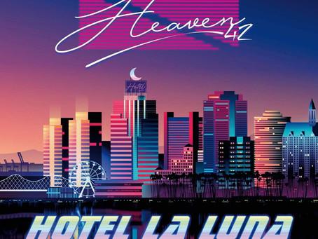 """Heaven42 - Hotel La Luna - 12"""" clear with purple splattered"""