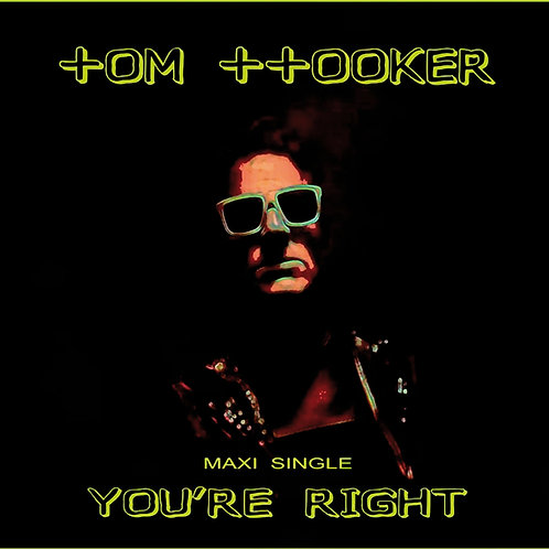 """Tom Hooker - You're Right / Take Your Time - 12"""" Olive green & aqua blue."""