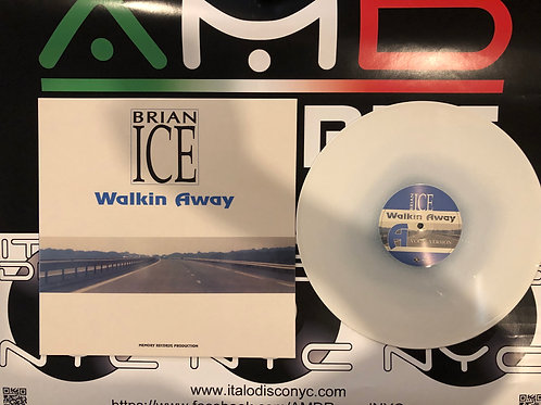 "Brian Ice - Walking Away - 12"" white vinyl. Limited edition of 100 copies only"