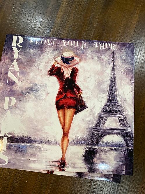 "Ryan Paris - I Love You Je T'aime - 12"" black vinyl"