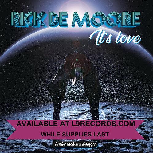 "AMD 036 - Rick de Moore - It's Love - 12"" Sea Blue vinyl - 100 copies only"
