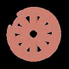 A symbol of a wheelchair's wheel