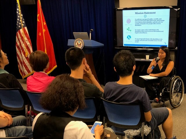 Ming discusses her mission at the Shanghai American Center