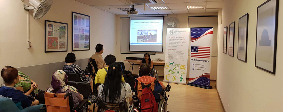 Ming presents at the US Embassy Singapore