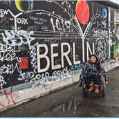 Ming Canaday at the Berlin Wall