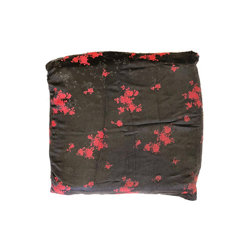Black & Red Flowers | Cushion Cover