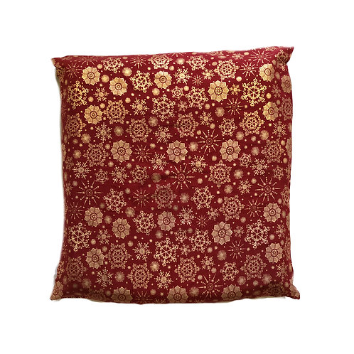 Red & Gold Snowflake | Cushion Cover