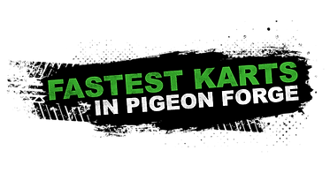Fastest karts in Pigeon Forge, black and green logo