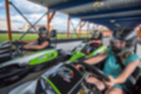 People go-karting at Xtreme Racing Cener of Pigeon Forge