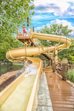 Family Resort Fun Oasis Plunge Slide
