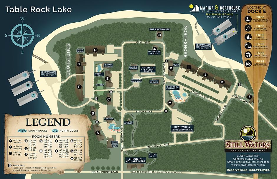 Still Waters Resort Property map
