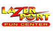 lazerport fun center pigeon forge logo
