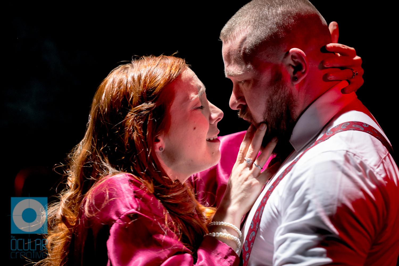 Cornelia Baumann as Lady Macbeth & David Paisley as Macbeth