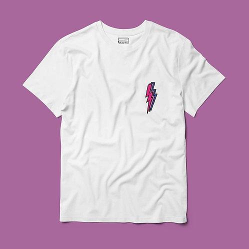 Camiseta Rayo Bisexual Bolsillo