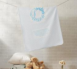 Psalm 139:13-14 Blue Baby Blanket