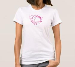 Exodus 14:14 Pink Ribbon Ladies T-Shirt