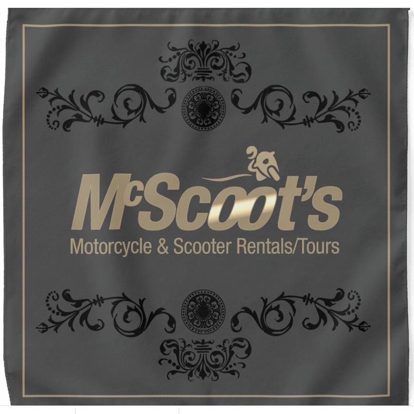 McScoot's Gold/Gray Bandana