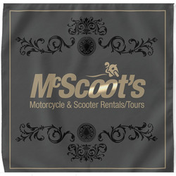 McScoot's Gold/Gray Bandana