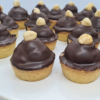 Cherry Hazelnut and Dark Chocolate Mousse Tarts