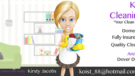 Kirsty's Cleaning Services - Facebook Banner