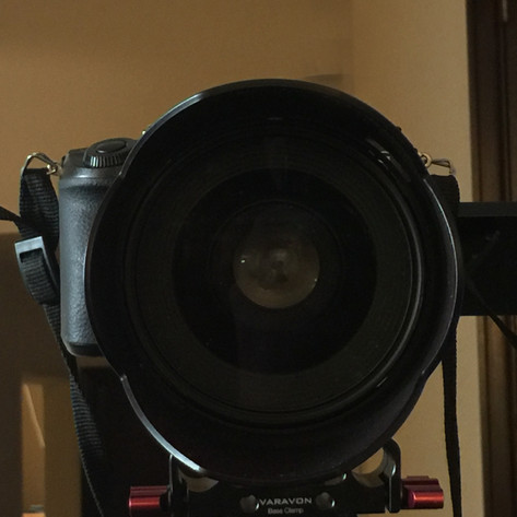 how to interview someone on camera big scary camera lens