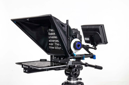 teleprompter help people who are being interviewed on camera