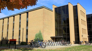 Goshen College building for our online ad