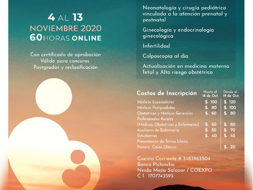 I Congreso Internacional de Actualización en Ginecología Obstetricia y Materno Noenatal