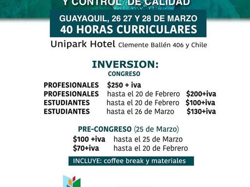 CONGRESO INTERNACIONAL DE BIOQUIMICA CLINICA, MICROBIOLOGIA Y CONTROL DE CALIDAD
