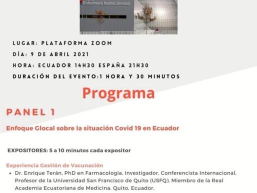 Conversatorio Online entre España y Ecuador. Gestión COVID-19