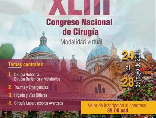 XLIII Congreso Nacional de Cirugía Modalidad Virtual