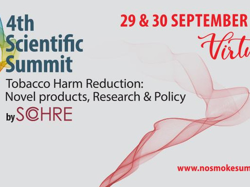 4th Scientific Summit Tobacco Harm Reduction: Novel products, Research and Policy by Sohre