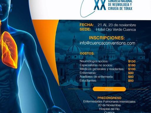 XX CONGRESO NACIONAL DE NEUMOLOGIA Y CIRUGIA DE TORAX