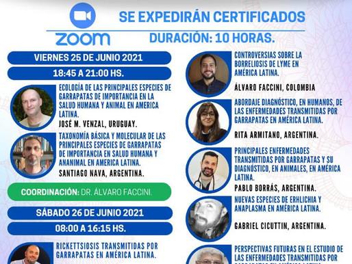 ALAM 2021 CURSO PRE CONGRESO ENFERMEDADES TRANSMITIDAS POR GARRAPATAS EN AMÉRICA LATINA