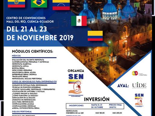 IX CONGRESO ECUATORIANO DE NEFROLOGIA Y TRASPLANTES I CURSO ECUATORIANO DE NEFROLOGIA INTERVENCIONES