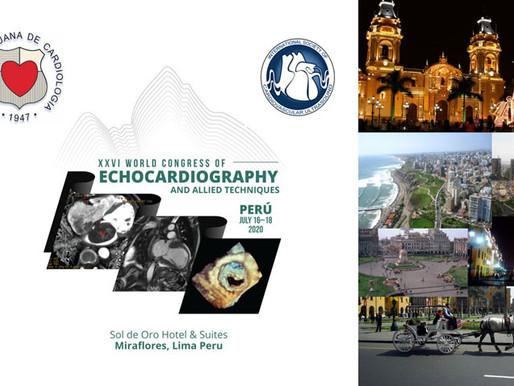 XXVI CONGRESO MUNDIAL DE ECOCARDIOGRAFIA Y TECNICAS AFINES
