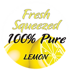 Fresh Squeezed Lemon STICKER, clear back