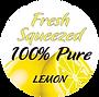 Fresh Squeezed Lemon STICKER, clear back