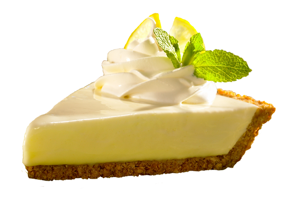 Key Lime Retail_slice, clear background.