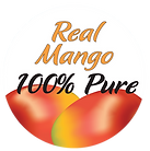100% Pure Mango STICKER, clear back.png