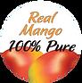 100% Pure Mango STICKER, clear back.png