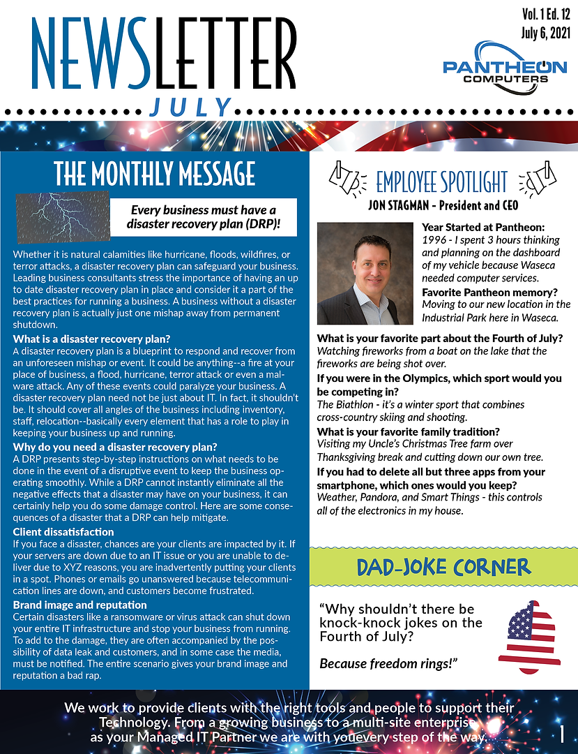 Newsletter - July Pantheon.png
