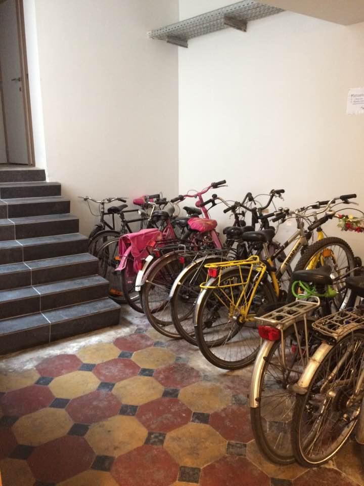Overdekte fietsenberging