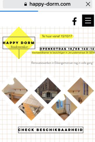Check onze nieuwe website happy-dorm.com! #enthousiast