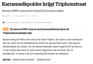 Karnemelpolder Zelzate krijgt Triphonstraat