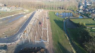 Dronebeelden Opbouw gegalvaniseerde structuur