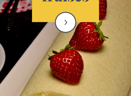 Tutoriel du roulé japonais aux fraises