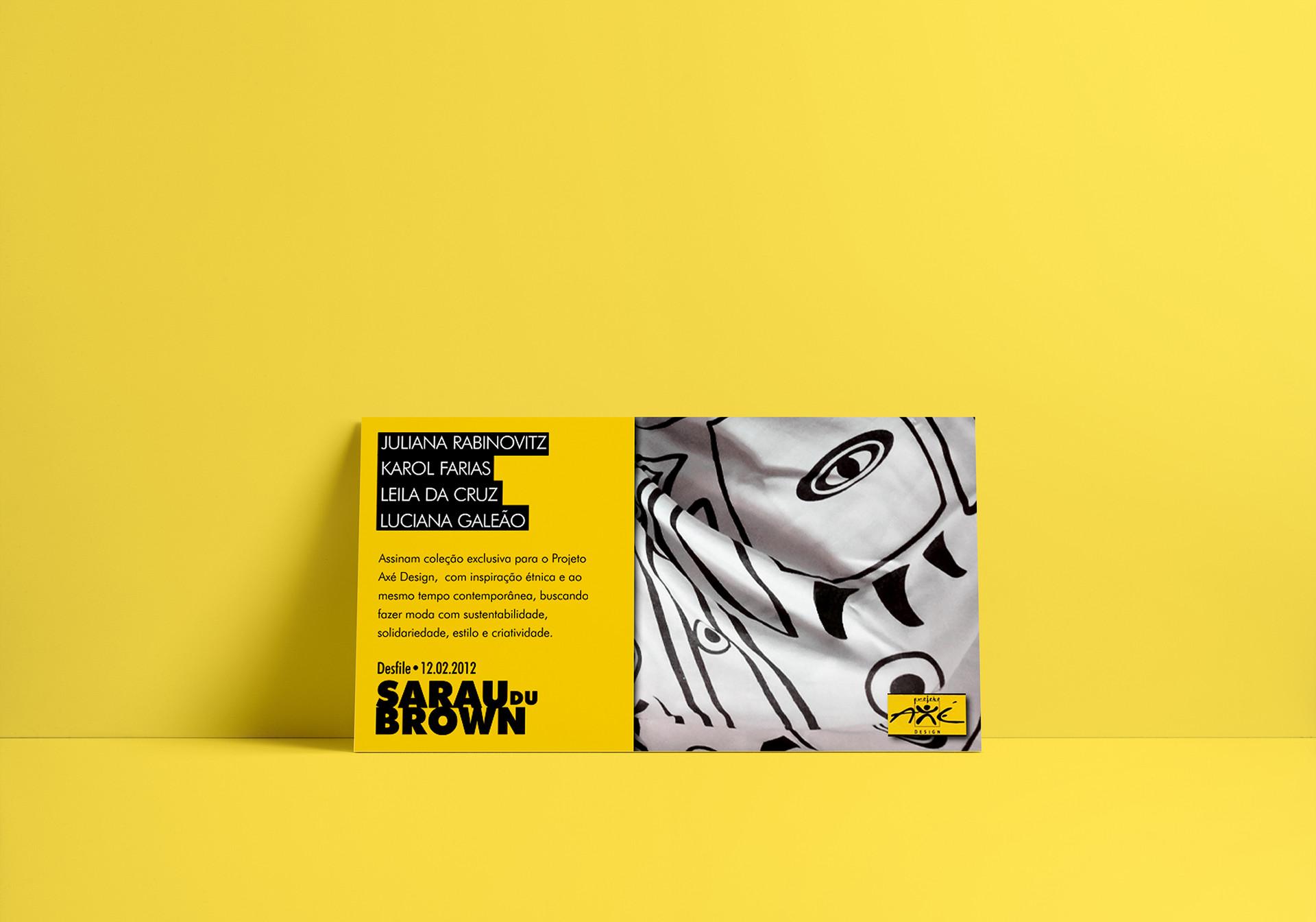 Postal  Cliente: Projeto Axé Design