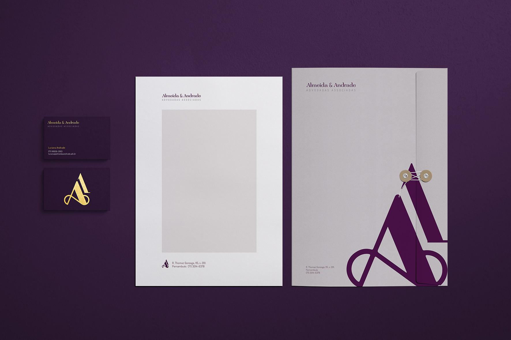 Brand & Paper  Cliente: Almeida & Andrade Adovogadas